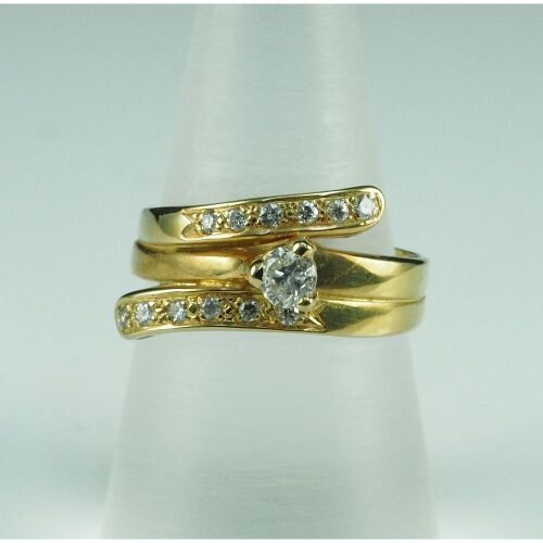 (DO NOT LOT) 18ct yellow gold diamond set ring