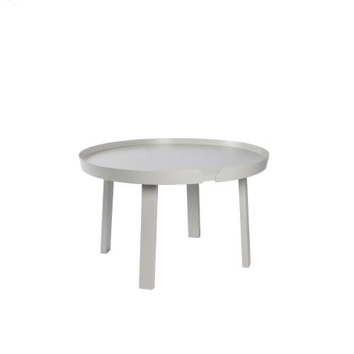 1 x Chase Round Coffee Table - Light Grey