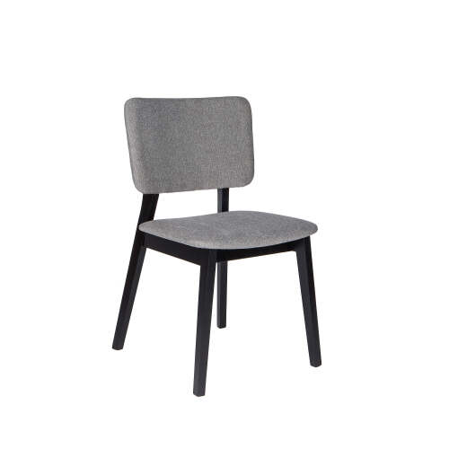 1 x Carter Fabric Dining Chair - Black + Grey