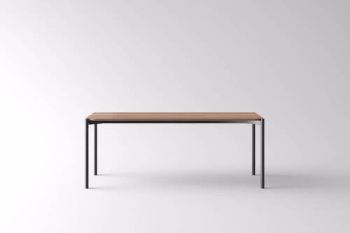 1 x Tana Dining Table - Seats 6 - Black/Brown