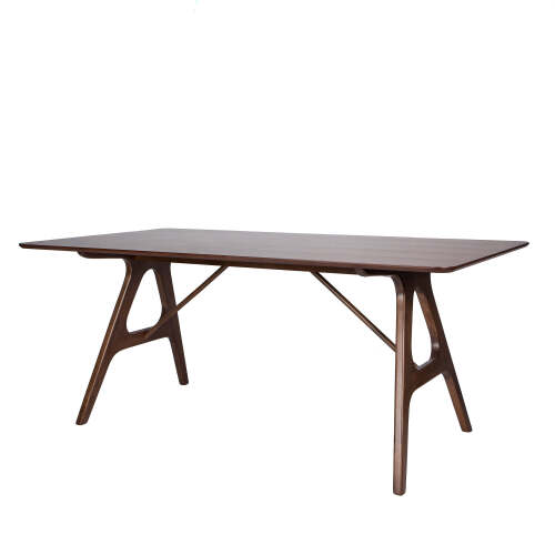 1 x Wesley Trestle Dining Table - Seats 4-6 - Chocolate Brown
