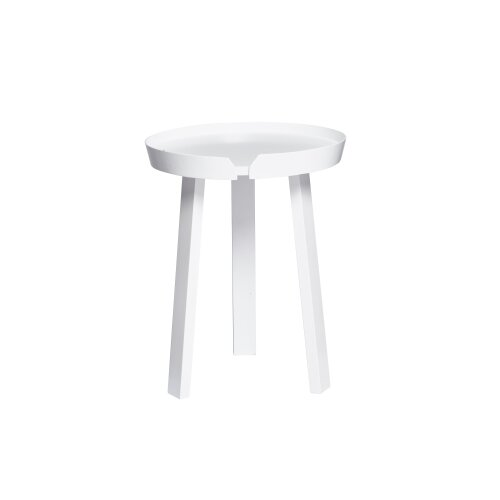 2 x Chase Round Side Table - White