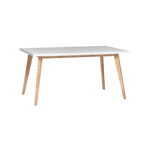 1 x Frankie Dining Table 1500 - White top/ Oak legs