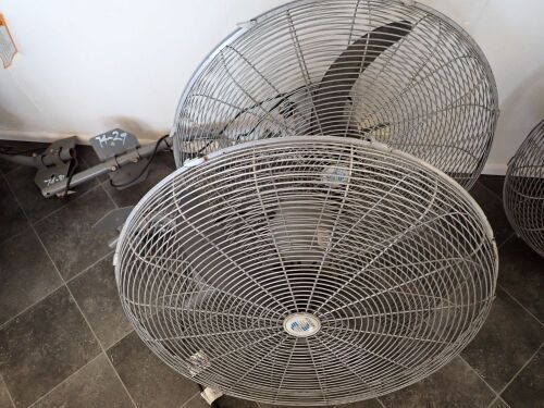 Quantity of 2 x Wall Mountable Industrial Fans