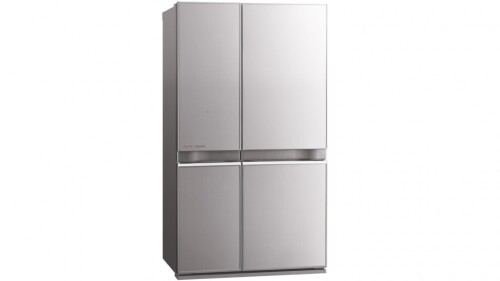 Mitsubishi 710L Glass Grande French Door Fridge - Silver MRL710ENGSLA