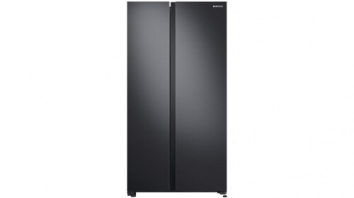 Samsung 696L Matte Black Side By Side Fridge with SpaceMax Technology SRS692NMB