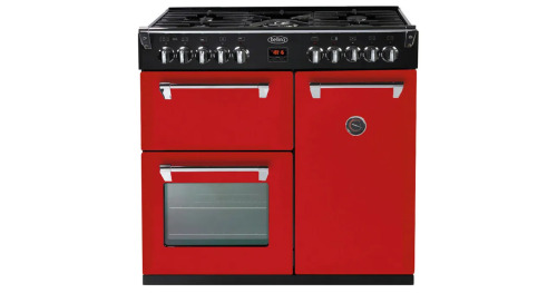 Belling Richmond 90cm Dual Fuel Split Ovens Freestanding Cooker Red BR900DFCNGLP