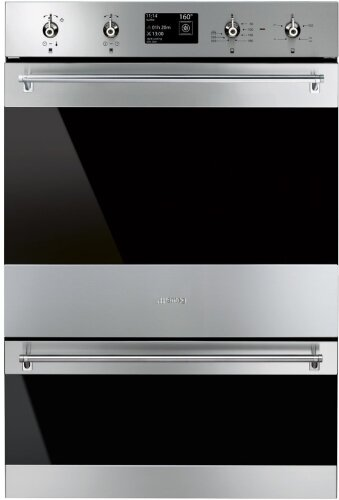 Smeg DOSPA6395X 60cm Classic Aesthetic Pyrolytic Electric Built-In Double Oven
