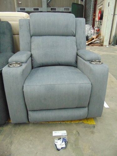 GAUCHO Fabric Electric Single RECLINER Lounge- MIST