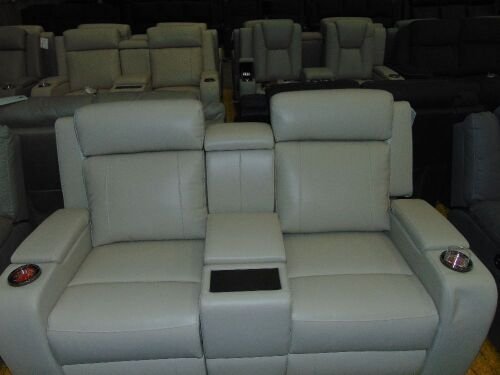 PORTMAN 2 SEATER Leather recliner Lounge *IVORY