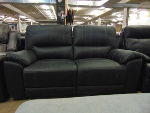 Quay West Fabric Lounge 2.5 Seater Electric Fabric - Jet
