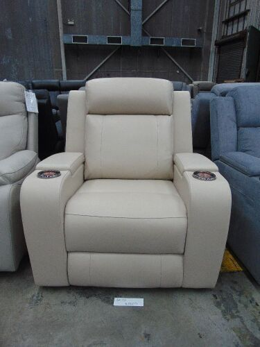 DNL PORTMAN Leather SINGLE SEATER ELECTRIC RECLINER - IVO