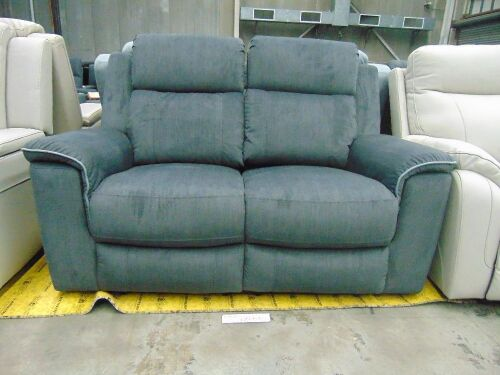MEDUSA Fabric 2 SEATER recliner Lounge with electric - TOULON EBONY