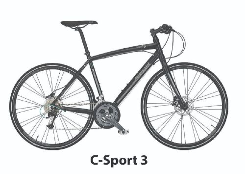 Bianchi Bike- Model YOB55C43KW - C-Sport 3 Alivio 27Sp Disc HYD 43cm