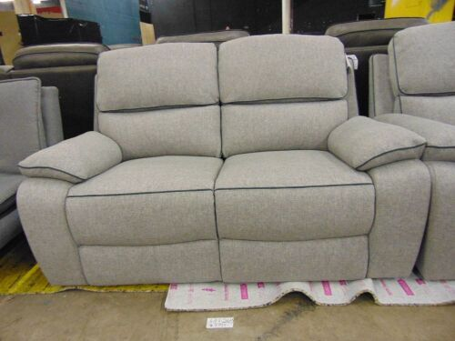 Metropole Powered 2 seater Fabric Recliner. *DKG