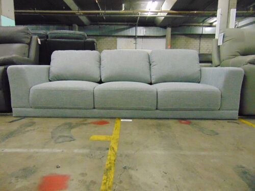 DNL BREWER Fabric Lounge 3 SEATER Fabric *SHADOW