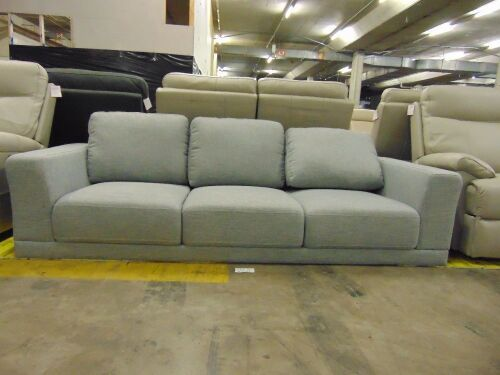 BREWER Fabric Lounge 3 SEATER Fabric *SHADOW