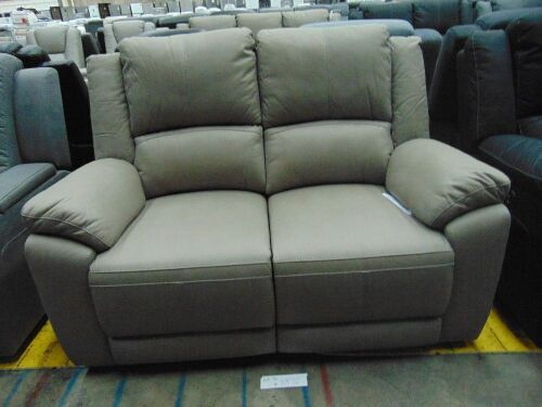 DNL GAUCHO Fabric 2 seater Electric RECLINER Lounge- MIST