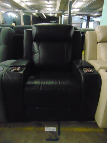 DNL PORTMAN Leather SINGLE SEATER ELECTRIC RECLINER*EBO
