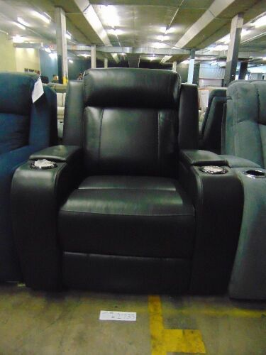 PORTMAN Leather SINGLE SEATER ELECTRIC RECLINER*EBO