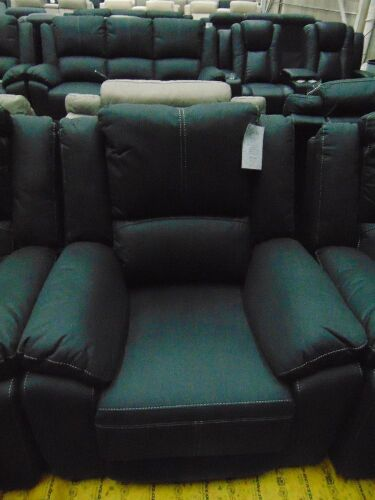 GAUCHO Fabric Single Seater Electric Recliner - JET Black
