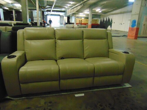 MARINA Leather 3 SEATER Leather recliner Lounge /LEA*IVOry