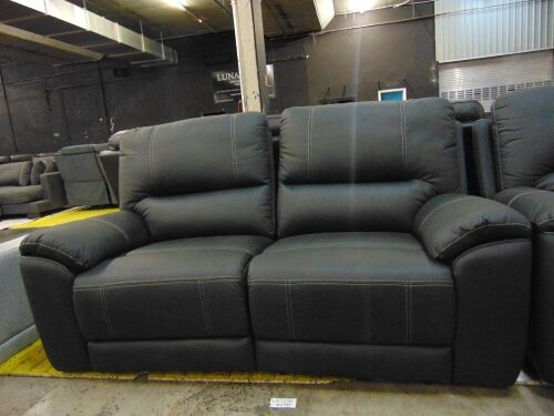 DNL Quay West Fabric Lounge 2.5 Seater Electric Fabric - Jet