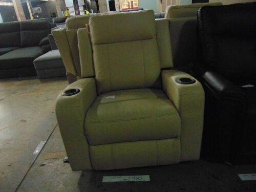 Jordan Leather Electric Recliner Thick Lea - Caramel