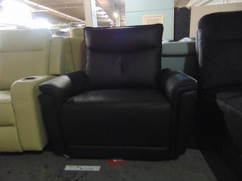 Encore Leather Electric Recliner - Black