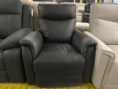 AMY SINGLE Leather LIFT CHAIR - BLACK