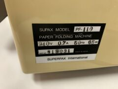 Superfax PF-110 Paper Folding Machine - Unreserved - 4