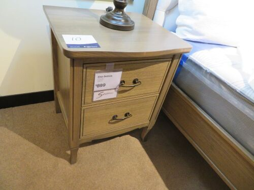 2 x Elise Bedside Tables, 2 Drawer, 520 x 480 x 650mm H