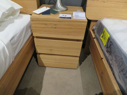 My Design Bedside Table, 3 Drawer