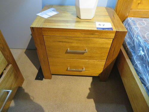 2 x Clovelly Bay Bedside Tables, 2 Drawer in Driftwood