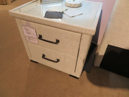 2 x Memphis Bedside Tables, 2 Drawer, colour: Cement, 540 x 480 x 500mm H