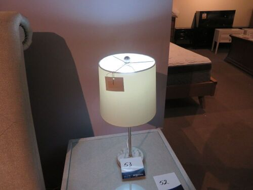 2 x Jenkin Table Lamps, colour: White, 480mm H