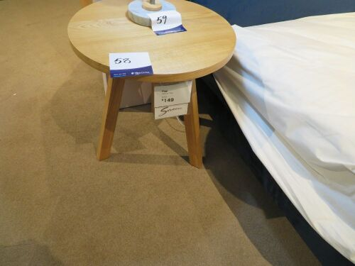 2 x Finn Round Bedside Tables, 500 Dia x 550mm H