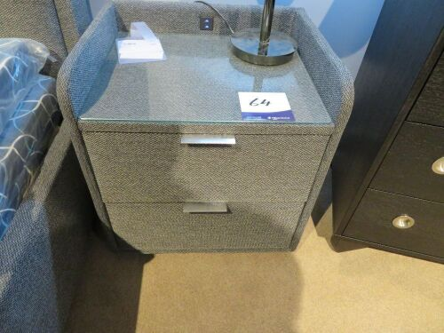 2 x Elevation Bedside Tables, 2 Drwe3r with Phone Charger & USB Port, 540 x 450 x 600mm H