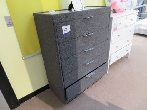 Elevation Tallboy, 5 Drawer, colour: Jazz Pepper, 960 x 460 x 1250mm H
