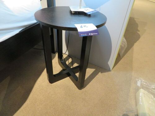 2 x Lotus Bedside Tables, colour: Black, 450 Dia x 550mm H