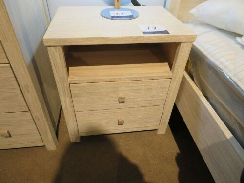 2 x Ocean Grove G&G Furniture Bedside Tables in Whitewash, 550 x 410 x 600mm H