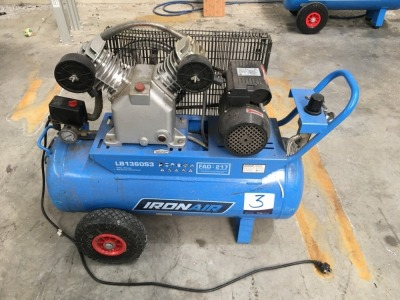 Iron Air 60 litre Portable Air Compressor, 2.5HP, Belt Driven