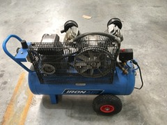 Iron Air 60 litre Portable Air Compressor, 2.5HP, Belt Driven - 2