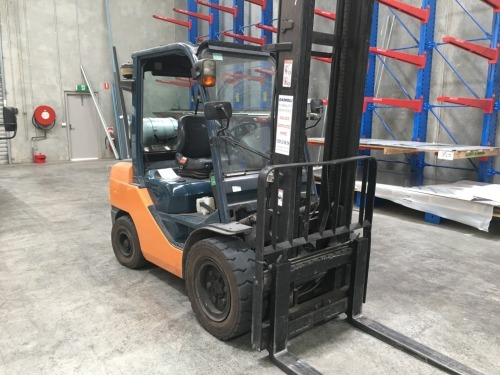 2009 Toyota 3.5 Tonne LPG Counterbalance Forklift, Model: 32-8FGJ35, Serial No: 12639