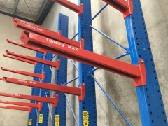 Canterlever Style Stock Racking, 5 Upright Frames, 20 Arms (16T Total rack Capacity) - 2