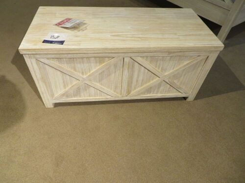 Ocean Grove G&G Furniture Blanket Box in Whitewash, 1000 x 460 x 450mm H