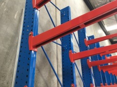 Canterlever Style Stock Racking, 4 Upright Frames, 16 Arms. (16T total rack capacity) - 2
