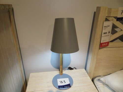 2 x Side Lamps, Bae Table Lamp in Ash Timber