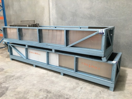 3 x Aluminium Custom Made Stillage's, 4000mm L x 600mmH x 900mm W