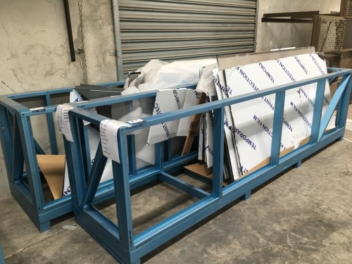 2 x Aluminium Constructed Stillage's, 4000mm L x 1100mm H x 900mm W